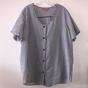 Woman Within Plus Size 1x Striped Top